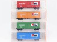 N Scale Micro Trains MTL Ntrak West N2K in San Jose 40' Box Car 4-Pack SEALED
