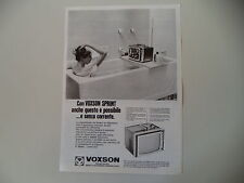 advertising Pubblicità 1968 TV TELEVISORE VOXSON SPRINT