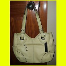 TIGNANELLO YELLOW PEBBLED LEATHER TOTE HAND BAG SATCHEL PURSE $120 EXC WONDERFUL