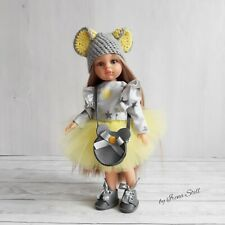 Outfit set 6in1 Mouse clothes for doll paola reina 32cm 13cale