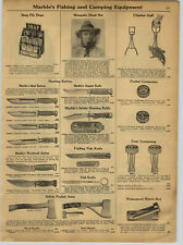 1930 PAPER AD Marble Hunting Knife Knives Woodcraft Ideal Pocket Axe Axes