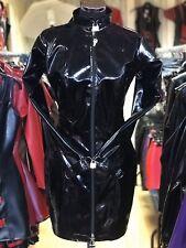 Misfitz black Pvc padlock lockable mistress dress 2 way zip size 18 TV Goth CD