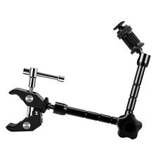 Sinvitron® 11 inch Magic Monitor Arm + Large Super Clamp Large Crab Pliers Cl...