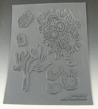 Fossilicious fun Polymer clay texture stamps by Christi Friesen