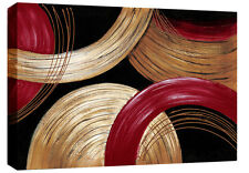 "Red Golden Beige Abstract Canvas Wall Art Picture 30""x20"" 3cm frame ready 2 hang"