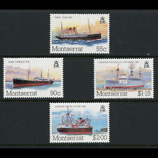 MONTSERRAT 1984 Mail Packet Ships. SG 615-618. Mint Never Hinged. (AX215)
