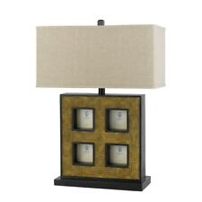 "Cal Lighting Picture Frame Lamp 25"" Height Table Lamp, Cocoa - BO-2089TB"