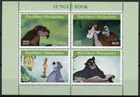 Madagascar 2019 MNH Jungle Book Bagheera Baloo 4v M/S II Disney Cartoons Stamps