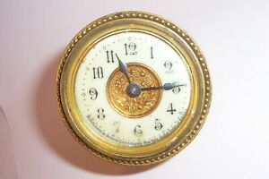 Antique Clock Parts Face Dial Hands Ansonia Porcelain Face Ornate Small