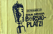 BVB Stockfahne 90x60cm Fahne Flagge DFB Pokalsieg 2017 Borussia Dortmund #505