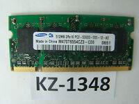 Samsung 512MB PC5300S M470T6554CZ3-CE6 (SO-DIMM 8CHIP) #KZ-1348