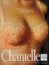 1994 CHANTELLE  Sexy Bra  Lingerie Orange Magazine Print Ad