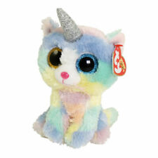 """Heather The Cat With Horn Plush Soft Toy, Ty Beanie Boo's Collection 6"""" (15cm)"""