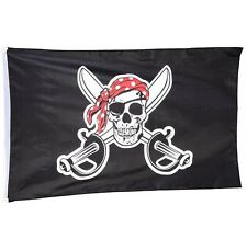 Jolly Roger Red Bandana Pirate Flag Ship Boat Beach Play House 150 x 90cm PIR35