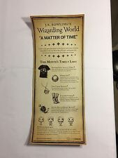 J.K. Rowling's Wizarding World #2 Loot Crate Matter Of Time Scroll Info Insert