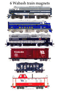 Wabash Freight Train magnet 6 magnets by Andy Fletcher