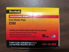 "3M Scotch 2200 3-1/4"" x 4-1/2"" Vinyl Mastic Pads NEW NEW NEW"