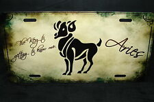 ZODIAC ARIES METAL NOVELTY LICENSE PLATE TAG FOR CARS ASTROLOGY HOROSCOPE