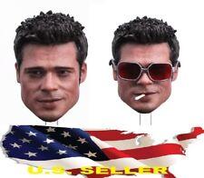 1/6 Brad Pitt Head 2.0 cigarette glasses for Fight Club Hot toys EB phicen ❶USA❶