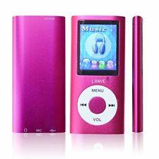 New listing Lonve Pink Mp4 Mp3 Player Music 1.81'' Music/Audio/Media Video Player w Fm Radio