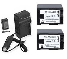 TWO 2X BP-827 Batteries + Charger for Canon HF G10 M30 M300 M31 M32 M36 M306 M40