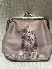 Cats Kittens Flowers Photo Wallet Change Purse Bling
