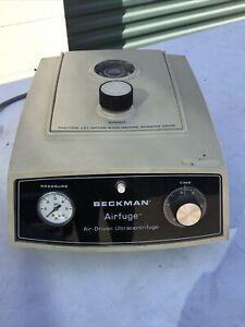 BECKMAN AIRFUGE AIR-DRIVEN ULTRACENTRIFUGE CENTRIFUGE 350624