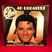 ELVIS PRESLEY 40 Greatest Hits 1975 DOUBLE VINYL LP best of EXCELLENT CONDIT K