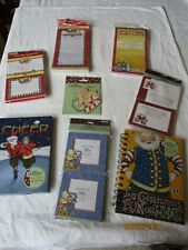 Nip Christmas lot of 9 Mary Engelbreit notepads, post its, magnets ,journals