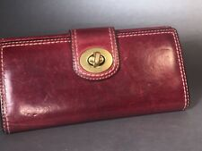 VTG COACH Leather Turn-lock Burgundy Clutch Wallet, Great Condition & Look