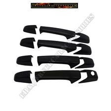 Black Gloss Door Handle Covers For Silverado+Tahoe+Sierra+Yukon 2007-2010~2013