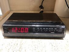 Vintage Emerson Woodgrain RED5521 Digital AM/FM Alarm Clock Radio Tested Retro