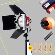 800W Video Continuous Red Head Light Kit + Bulb + Gels Color Filter + Clip Kit