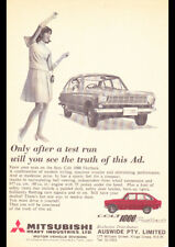 "1967 MITSUBISHI COLT 1000 FASTBACK AD A2 CANVAS PRINT POSTER FRAMED 23.4""x16.5"""