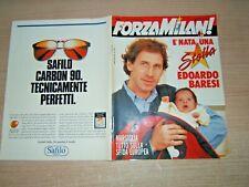 FORZA MILAN !=N°3 1991 ANNO XXIII=MARSIGLIA=E NATO EDOARDO BARESI =SIMPLE MINDS