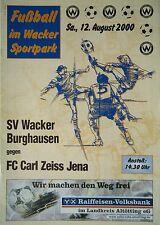 Programme 2000/01 SV Wacker Burghausen-CZ Jena