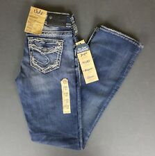 silver suki jeans mid rise slim boot relaxed hip & thigh W25 L31 womens