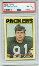 1972 Topps #33 Rich McGeorge PSA 8 NMMT Green Bay Packers