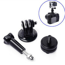 2 x 1/4'' Hot Shoe Adaptor +Tripod Mount +Screw For GoPro Hero 3+ 4 5 6 DSLR