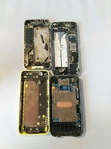 4 iPhones For Parts, Please Look At Images Carefully As Lots Of Parts Missing