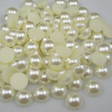 Wholesale 2000pcs Half-round Flatback Acrylic Pearl Beads For Nail Art Phone 8mm