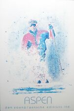 "Dan Young Aspen Skiing Poster Panache Editions Ltd. 1988 25"" x 36"""