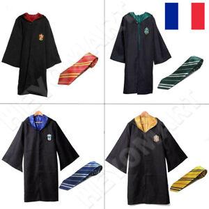 Harry Potter Cravate Halloween Carnaval Cosplay Robe Costume Cape Diplômé Fête