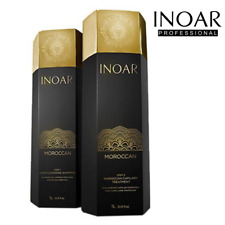 INOAR MOROCCAN BRAZILIAN KERATIN HAIR TREATMENT STRAIGHTENING KIT 1 LITRE EACH