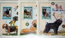 Guinea 2002 bloque 789-91 2211 Boy Scouts Boy Scout Dogs perros animals fauna mnh