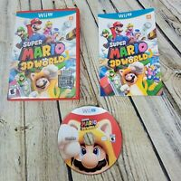 Super Mario 3D World (Wii U, 2013) Complete with Game Disc and Manual VG Cond