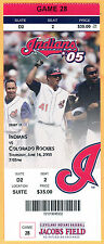6/16/05 INDIANS FULL/MINT/SUITE TICKET-KEVIN MILLWOOD CAREER WIN #100
