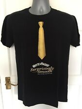 WHYTE & MACKAY WHISKY 'Surprisingly Smooth' Black 100% Cotton T-Shirt MEDIUM