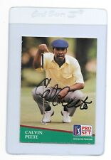CALVIN PEETE Signé 1991 PRO SET Golf Card # 49 PGA Tour African-American 12 Wins