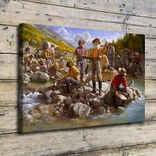 """16""""x24""""Gold Rush Painting HD Print on Canvas Home Decor Room Wall Art Picture"""